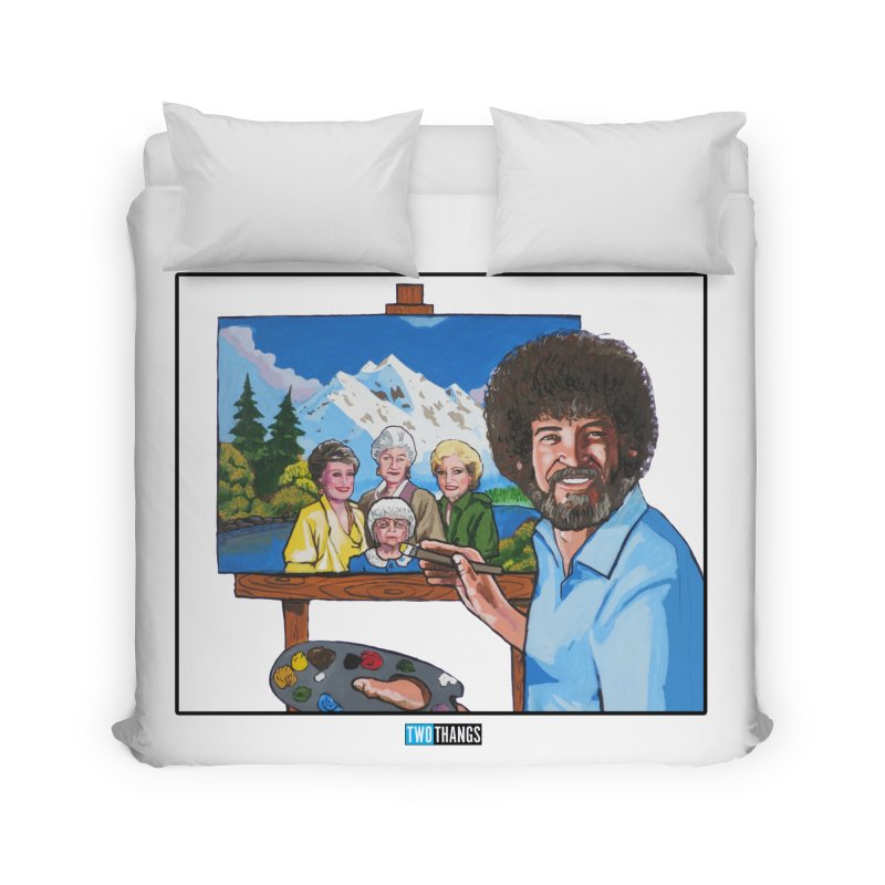 the Golden Girls get their portrait painted Home Duvet by Two Thangs Artist Shop