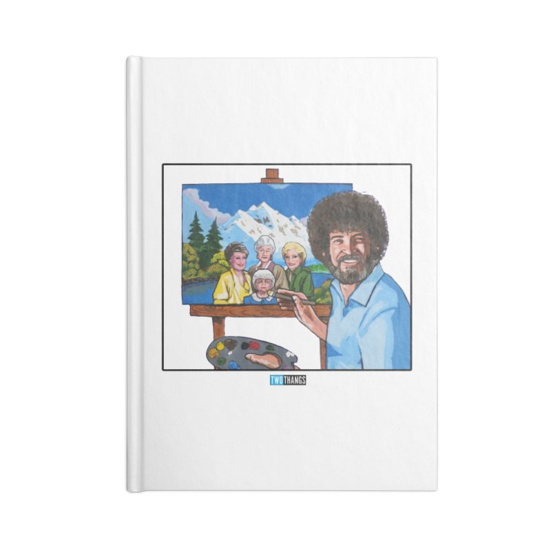 the Golden Girls get their portrait painted Accessories Blank Journal Notebook by Two Thangs Artist Shop