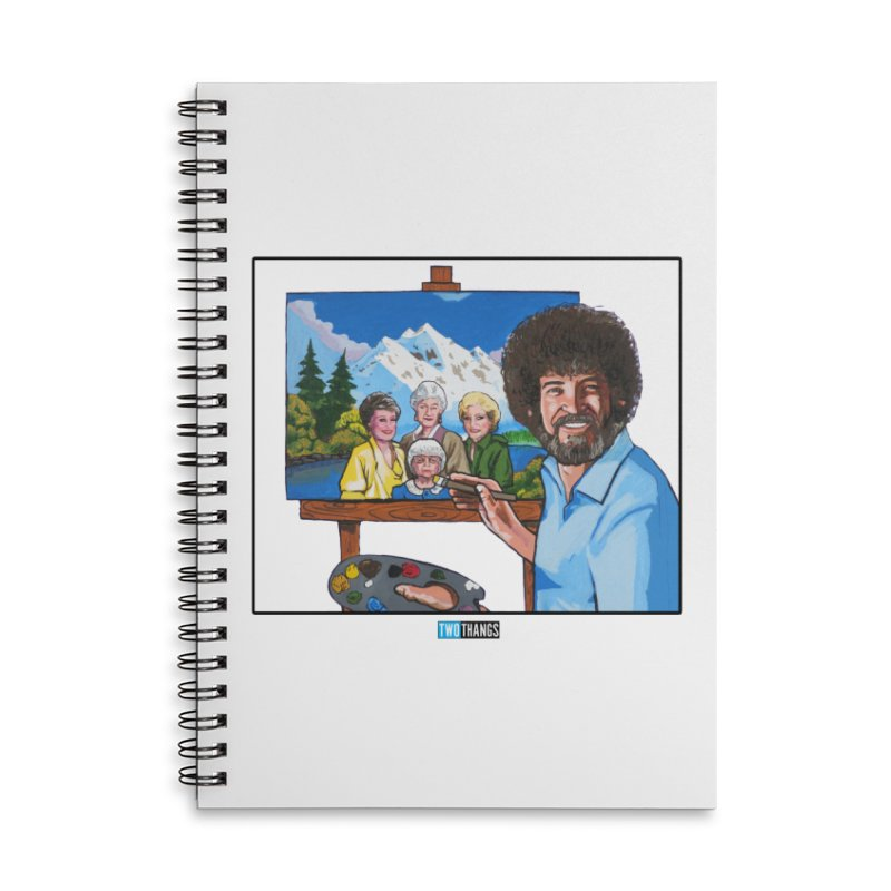 the Golden Girls get their portrait painted Accessories Lined Spiral Notebook by Two Thangs Artist Shop