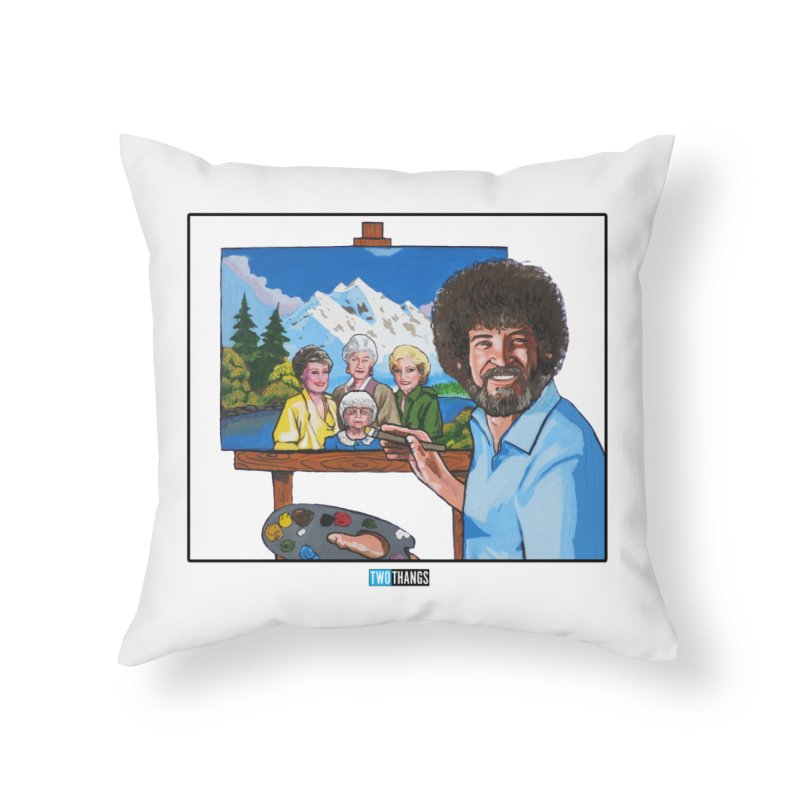 the Golden Girls get their portrait painted Home Throw Pillow by Two Thangs Artist Shop