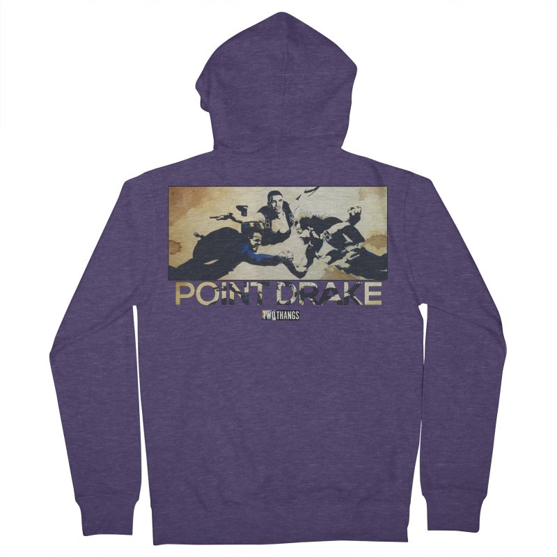 Point Drake Men's French Terry Zip-Up Hoody by Two Thangs Artist Shop