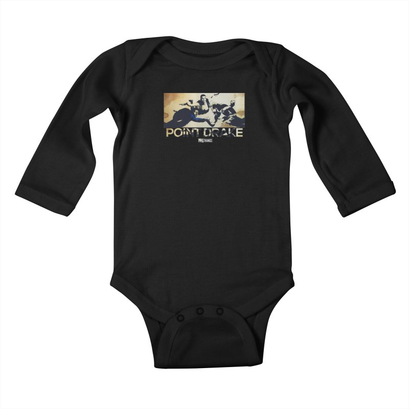 Point Drake Kids Baby Longsleeve Bodysuit by Two Thangs Artist Shop