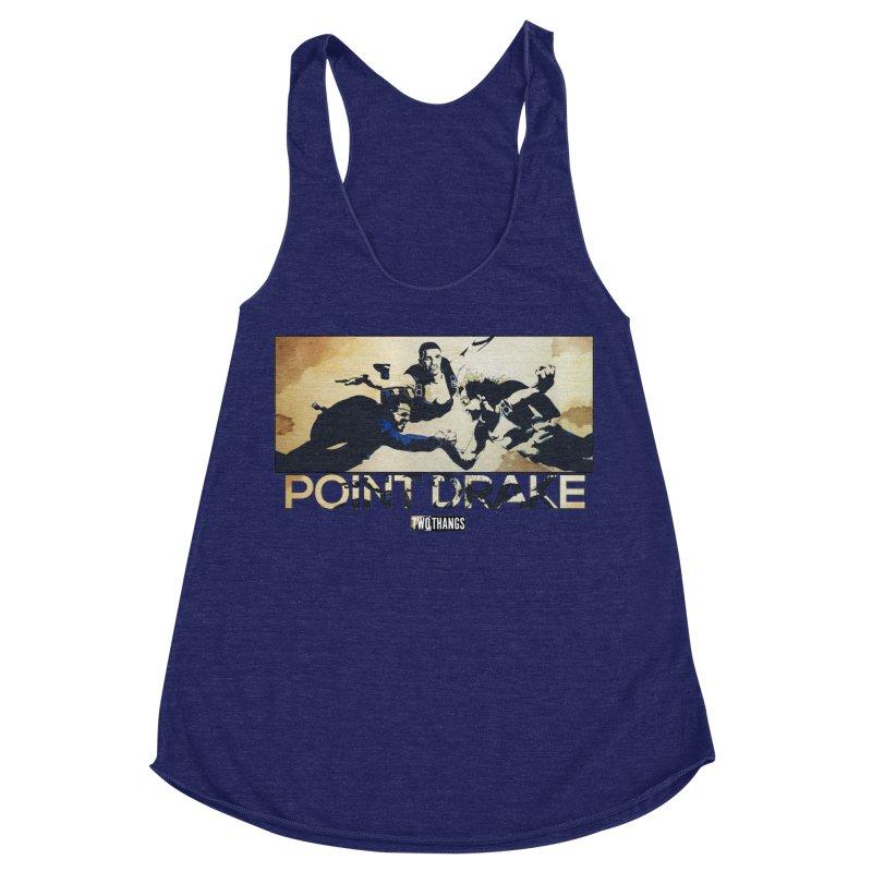 Point Drake Women's Racerback Triblend Tank by Two Thangs Artist Shop