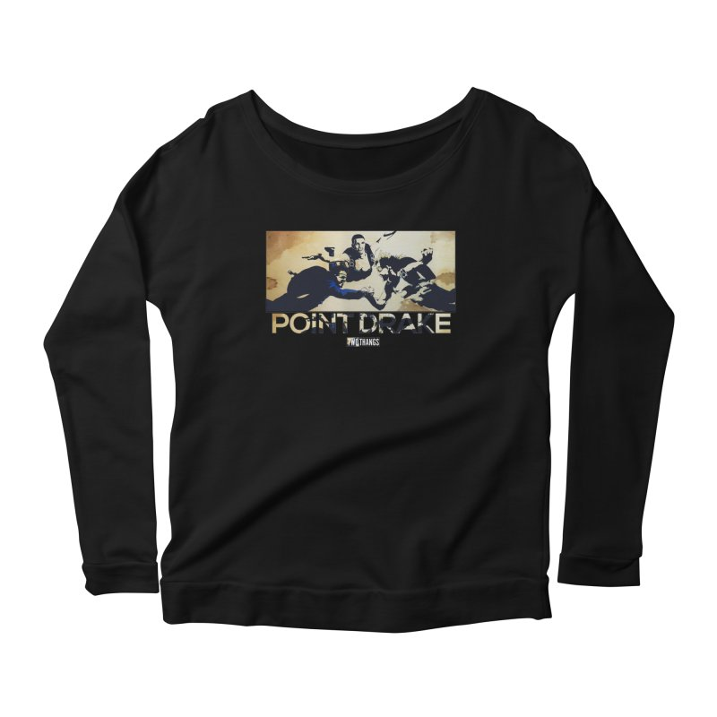 Point Drake Women's Scoop Neck Longsleeve T-Shirt by Two Thangs Artist Shop