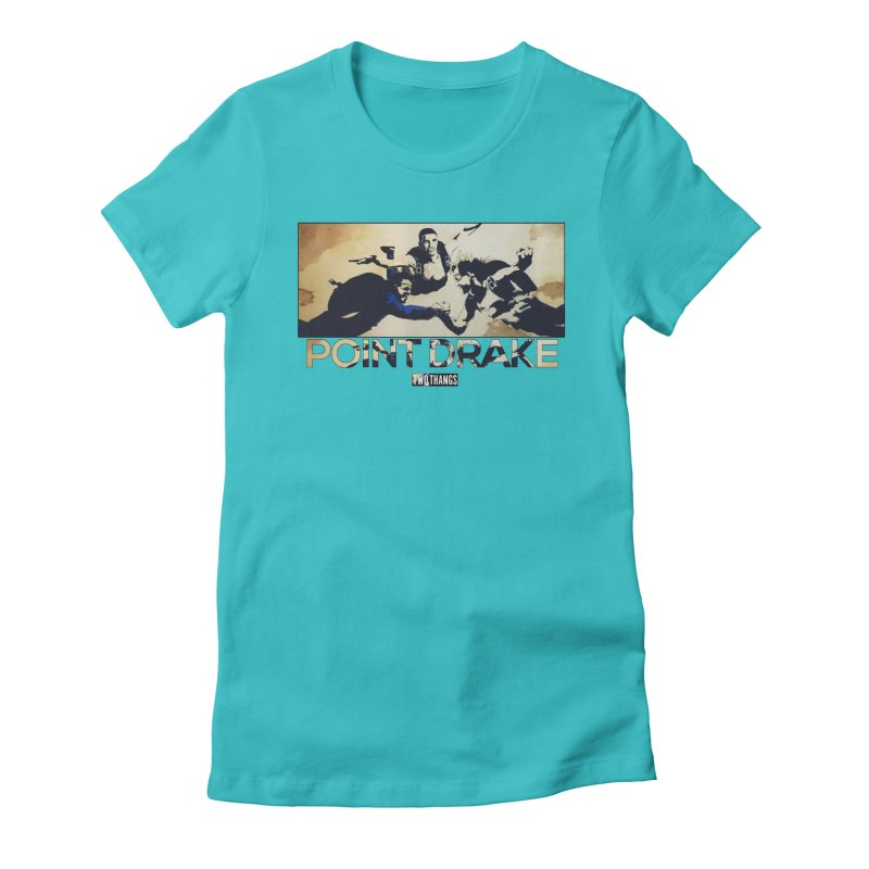 Point Drake Women's Fitted T-Shirt by Two Thangs Artist Shop