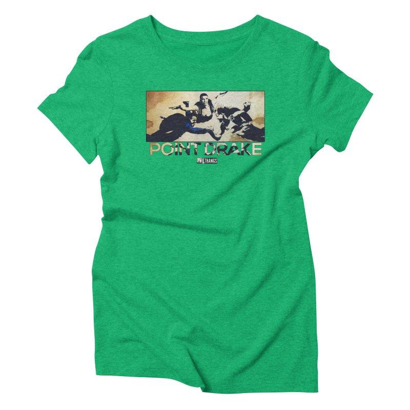 Point Drake Women's Triblend T-Shirt by Two Thangs Artist Shop