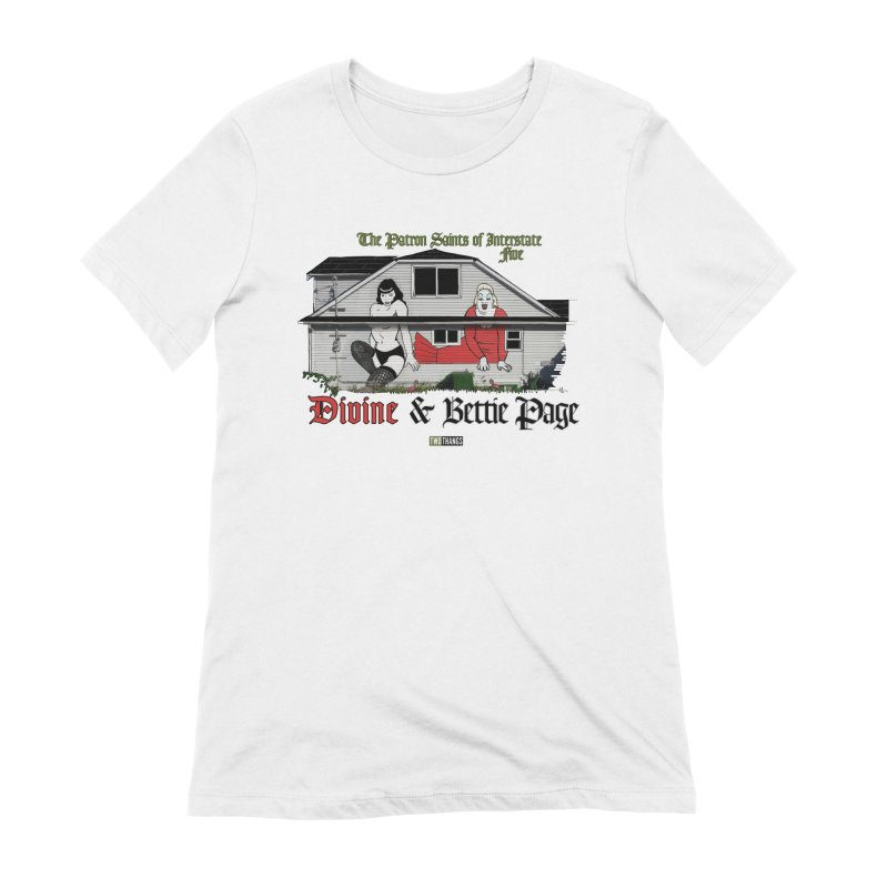 Bettie Page and Divine Women's Extra Soft T-Shirt by Two Thangs Artist Shop