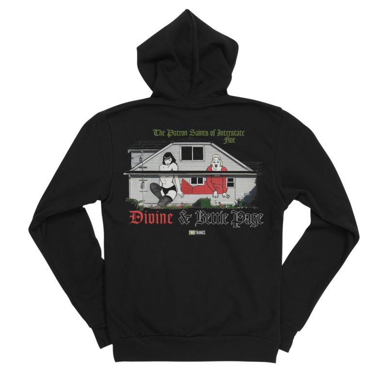 Bettie Page and Divine Men's Zip-Up Hoody by Two Thangs Artist Shop