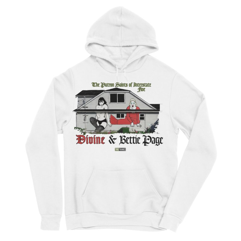 Bettie Page and Divine Women's Sponge Fleece Pullover Hoody by Two Thangs Artist Shop