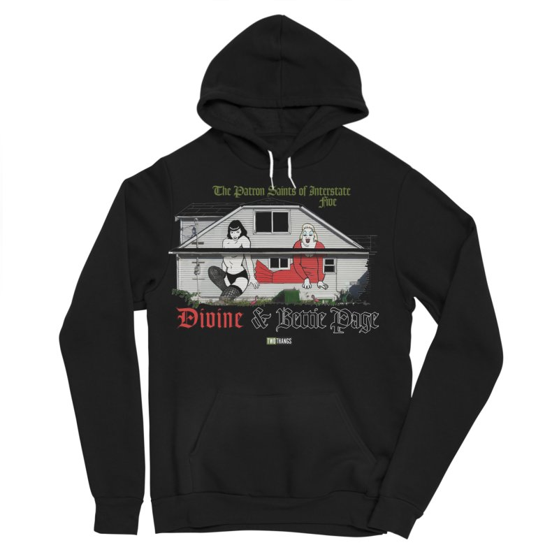 Bettie Page and Divine Men's Sponge Fleece Pullover Hoody by Two Thangs Artist Shop