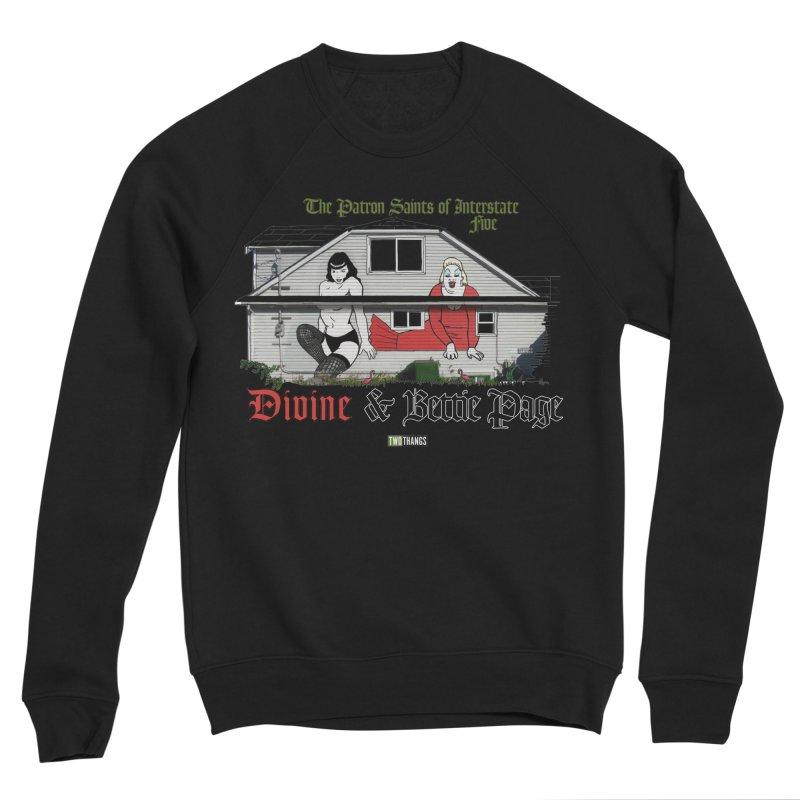 Bettie Page and Divine Men's Sponge Fleece Sweatshirt by Two Thangs Artist Shop
