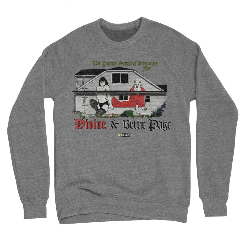 Bettie Page and Divine Women's Sponge Fleece Sweatshirt by Two Thangs Artist Shop