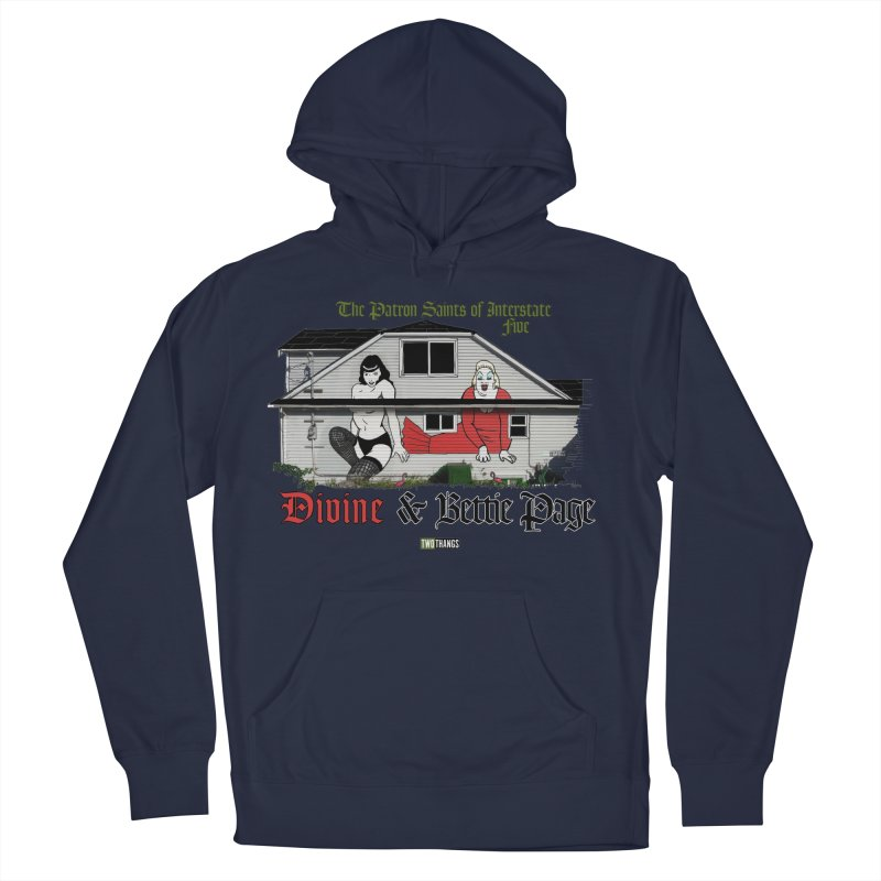 Bettie Page and Divine Men's Pullover Hoody by Two Thangs Artist Shop