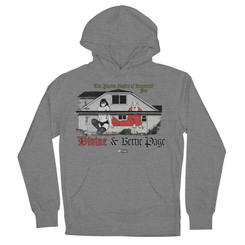 Bettie Page and Divine Women's Pullover Hoody by Two Thangs Artist Shop
