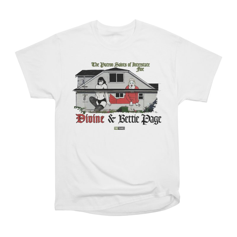 Bettie Page and Divine Men's Heavyweight T-Shirt by Two Thangs Artist Shop