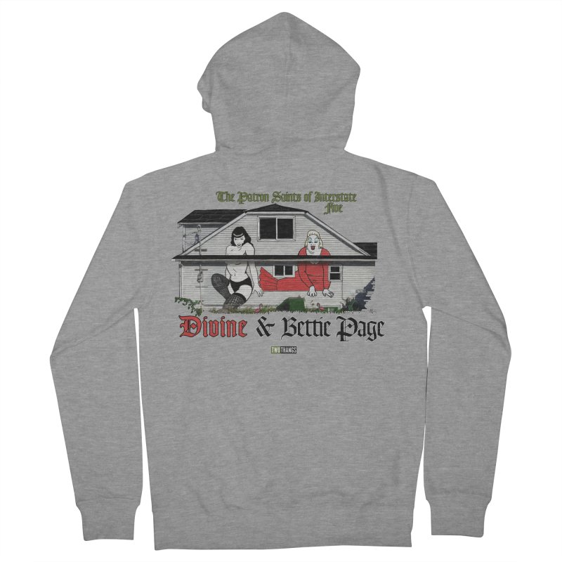 Bettie Page and Divine Women's French Terry Zip-Up Hoody by Two Thangs Artist Shop