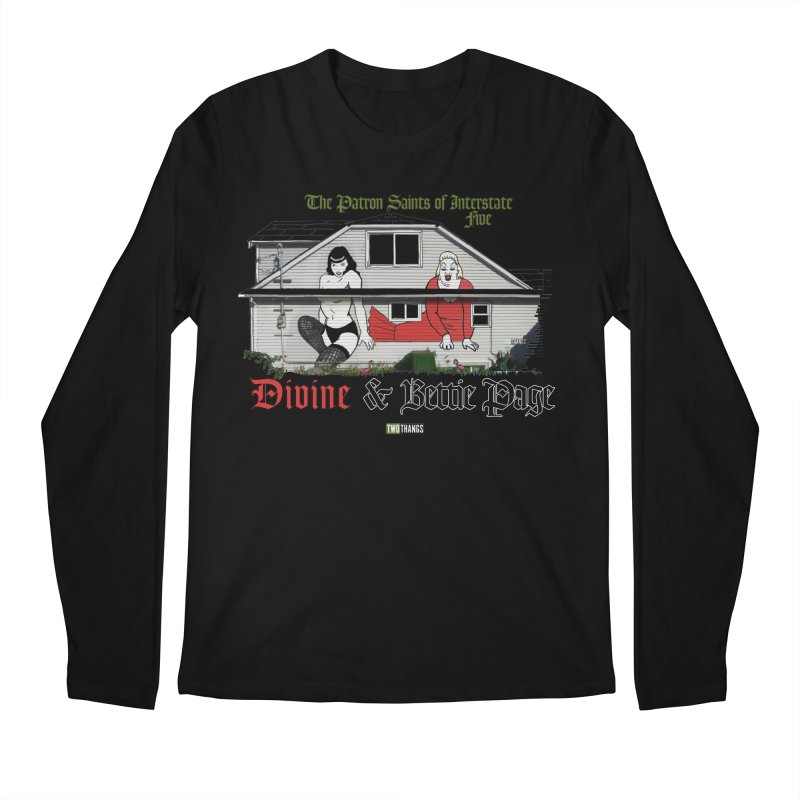 Bettie Page and Divine Men's Regular Longsleeve T-Shirt by Two Thangs Artist Shop