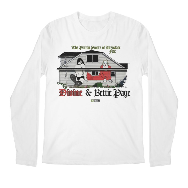 Bettie Page and Divine Men's Longsleeve T-Shirt by Two Thangs Artist Shop