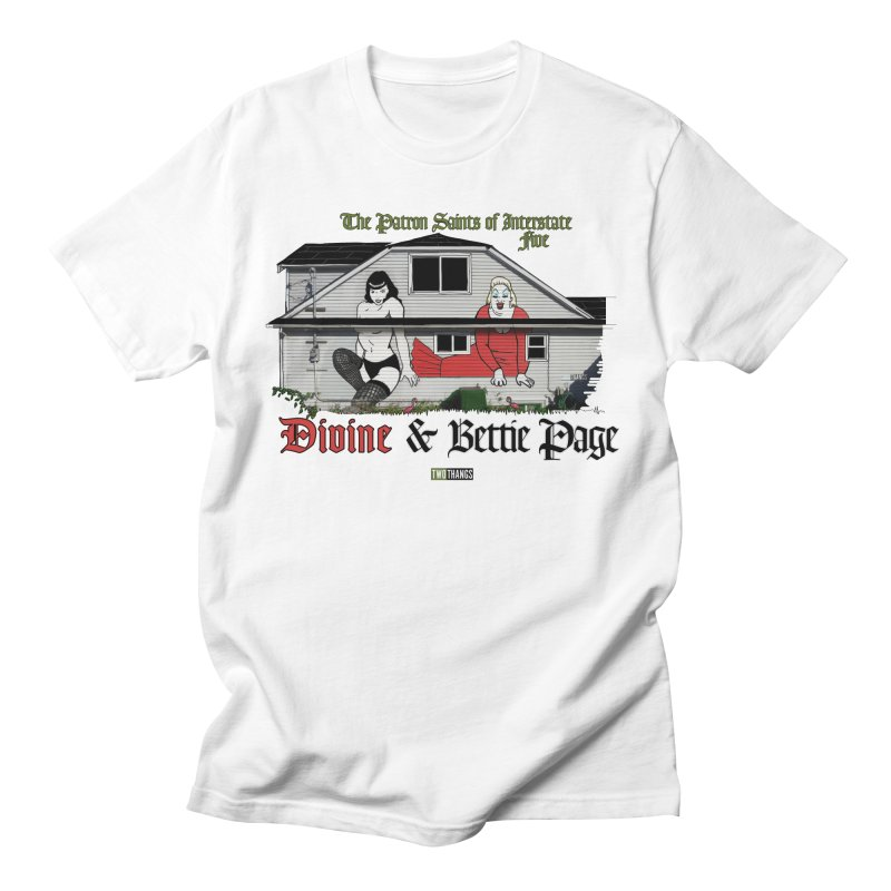 Bettie Page and Divine Men's T-Shirt by Two Thangs Artist Shop
