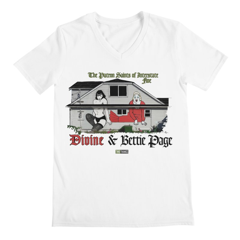 Bettie Page and Divine Men's V-Neck by Two Thangs Artist Shop