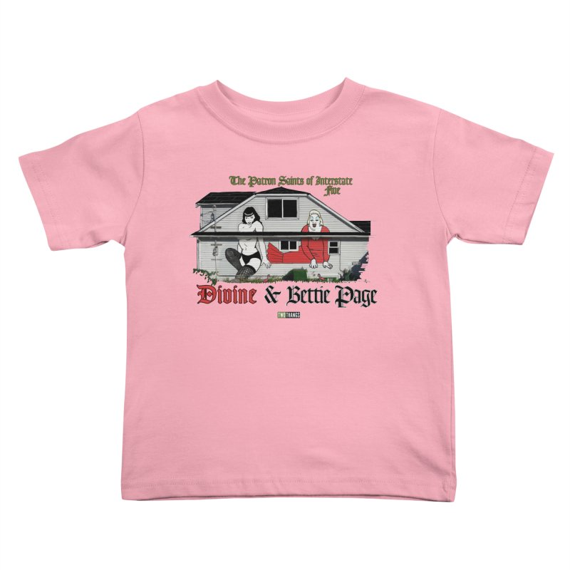 Bettie Page and Divine Kids Toddler T-Shirt by Two Thangs Artist Shop