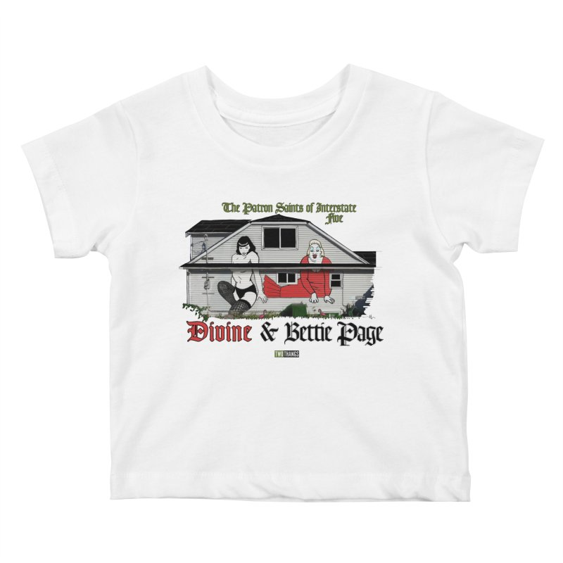Bettie Page and Divine Kids Baby T-Shirt by Two Thangs Artist Shop
