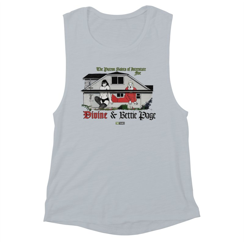 Bettie Page and Divine Women's Muscle Tank by Two Thangs Artist Shop