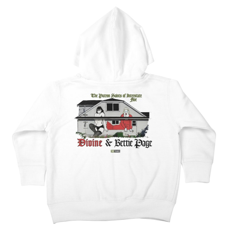 Bettie Page and Divine Kids Toddler Zip-Up Hoody by Two Thangs Artist Shop