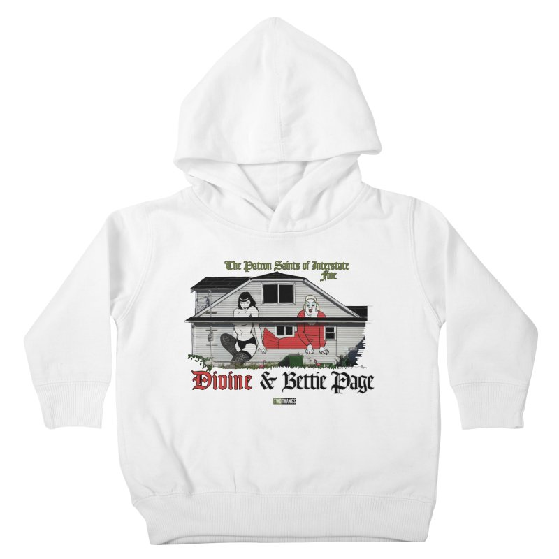 Bettie Page and Divine Kids Toddler Pullover Hoody by Two Thangs Artist Shop