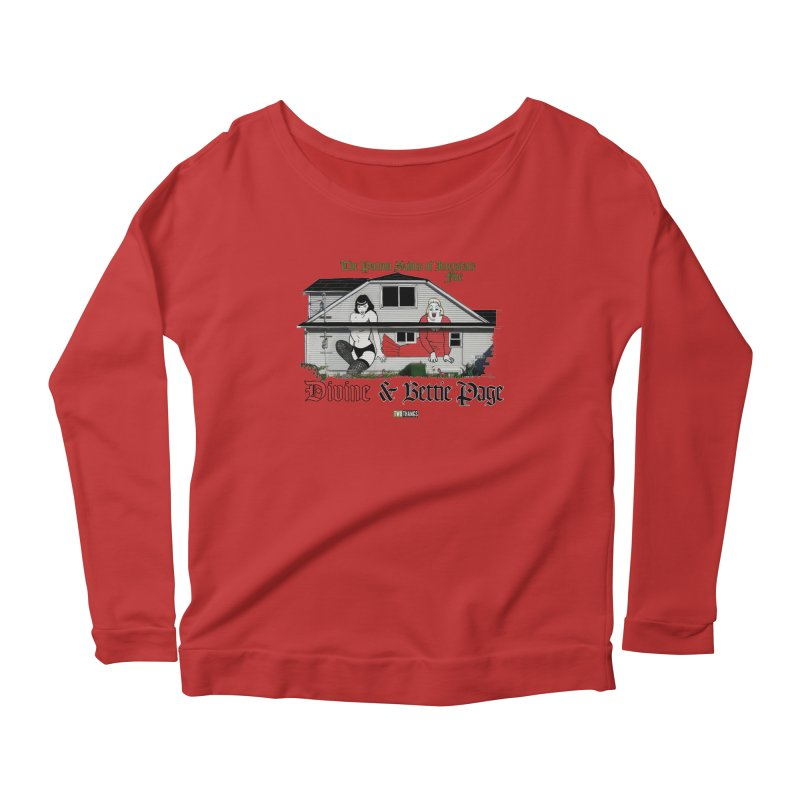 Bettie Page and Divine Women's Scoop Neck Longsleeve T-Shirt by Two Thangs Artist Shop