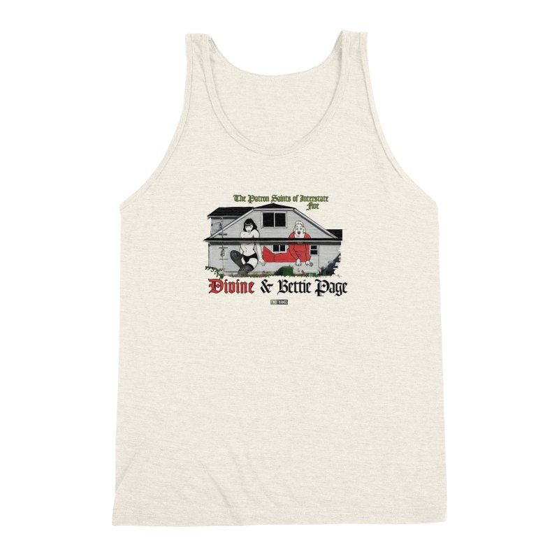Bettie Page and Divine Men's Triblend Tank by Two Thangs Artist Shop
