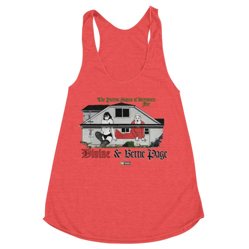 Bettie Page and Divine Women's Tank by Two Thangs Artist Shop