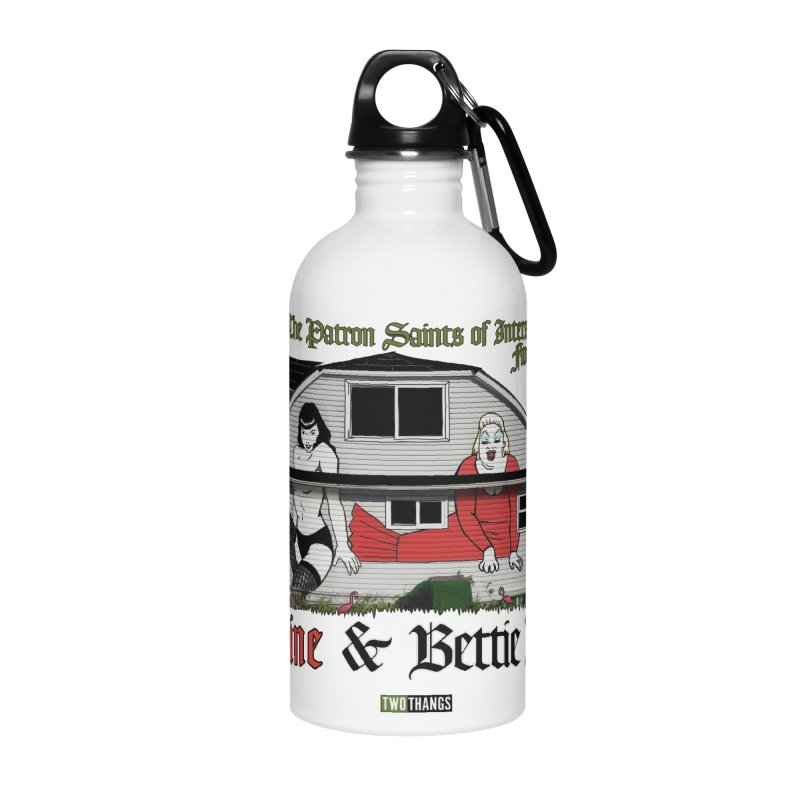 Bettie Page and Divine Accessories Water Bottle by Two Thangs Artist Shop