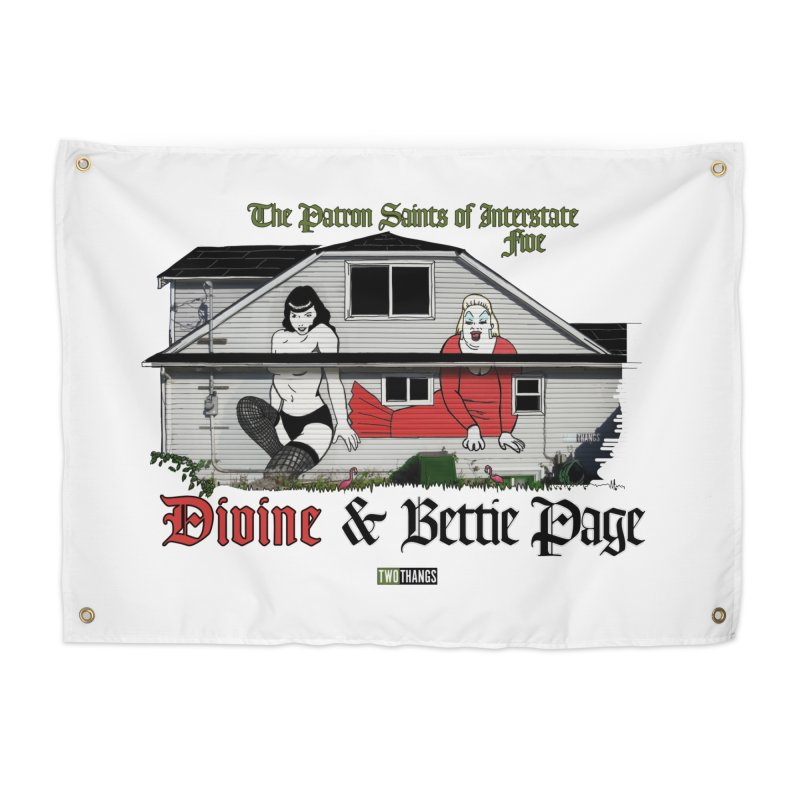 Bettie Page and Divine Home Tapestry by Two Thangs Artist Shop