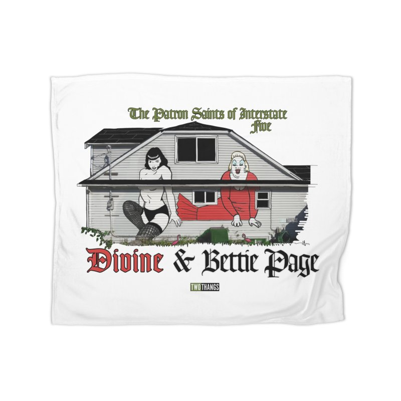 Bettie Page and Divine Home Blanket by Two Thangs Artist Shop