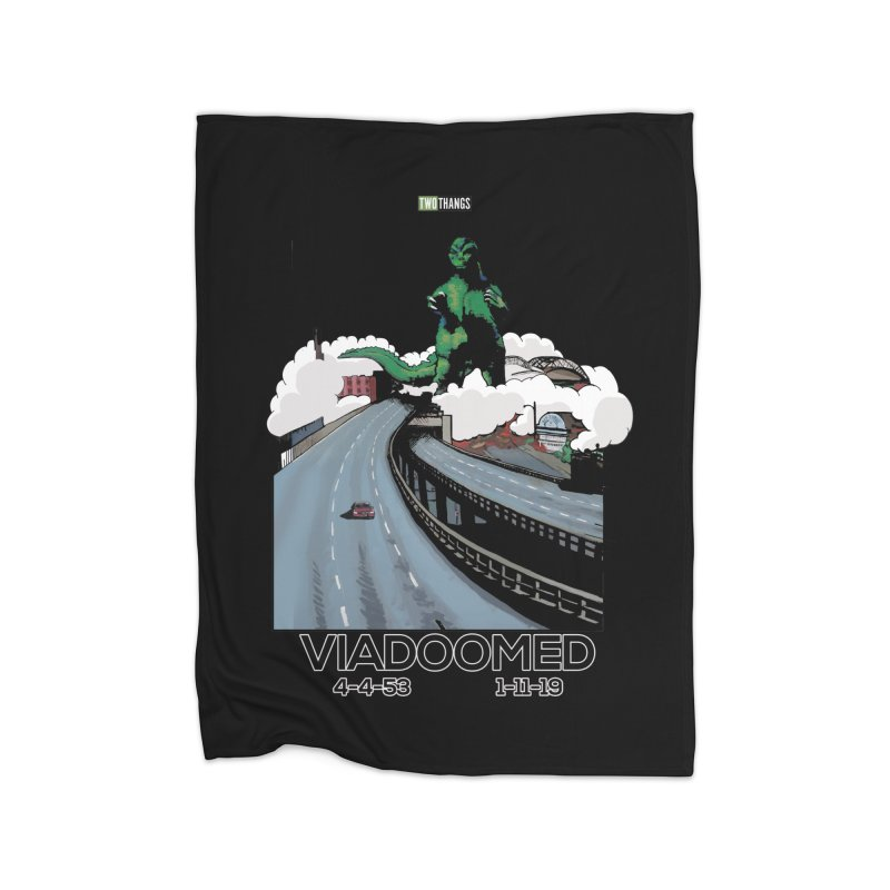 Seattle Viaduct (RIP) / Godzilla Home Blanket by Two Thangs Artist Shop