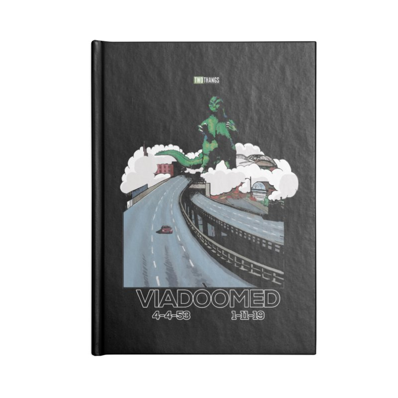 Seattle Viaduct (RIP) / Godzilla Accessories Notebook by Two Thangs Artist Shop