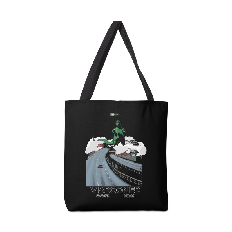 Seattle Viaduct (RIP) / Godzilla Accessories Bag by Two Thangs Artist Shop