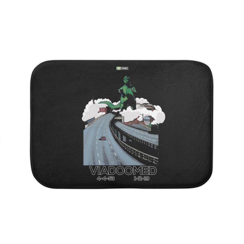 Seattle Viaduct (RIP) / Godzilla Home Bath Mat by Two Thangs Artist Shop