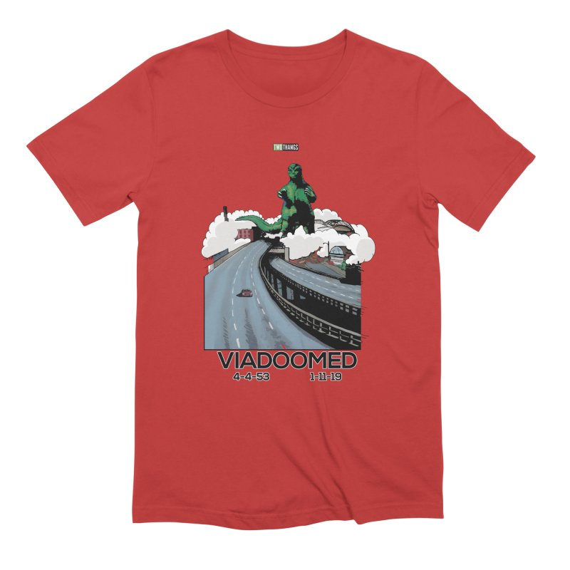 Seattle Viaduct (RIP) / Godzilla Men's Extra Soft T-Shirt by Two Thangs Artist Shop