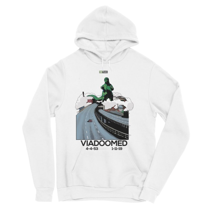 Seattle Viaduct (RIP) / Godzilla Women's Sponge Fleece Pullover Hoody by Two Thangs Artist Shop
