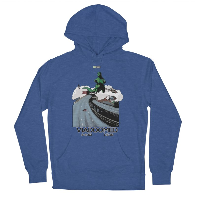 Seattle Viaduct (RIP) / Godzilla Women's French Terry Pullover Hoody by Two Thangs Artist Shop