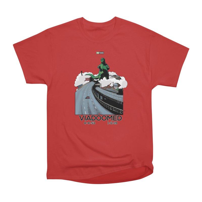 Seattle Viaduct (RIP) / Godzilla Women's Heavyweight Unisex T-Shirt by Two Thangs Artist Shop