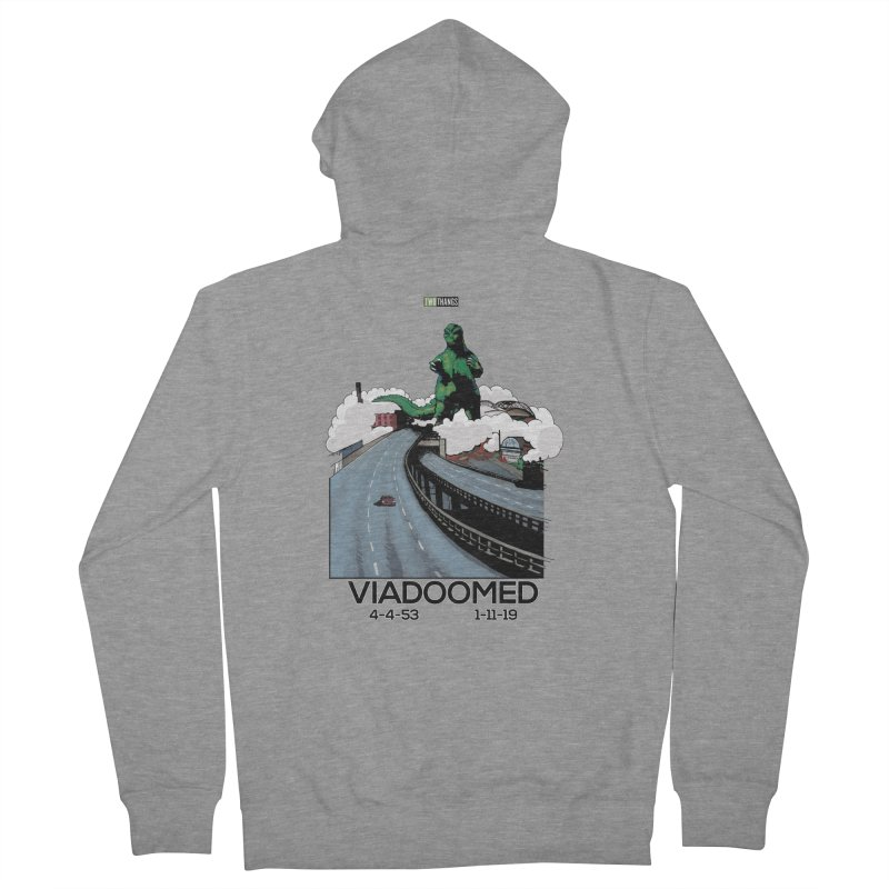 Seattle Viaduct (RIP) / Godzilla Women's French Terry Zip-Up Hoody by Two Thangs Artist Shop