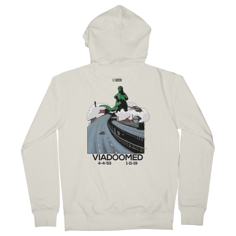 Seattle Viaduct (RIP) / Godzilla Men's French Terry Zip-Up Hoody by Two Thangs Artist Shop