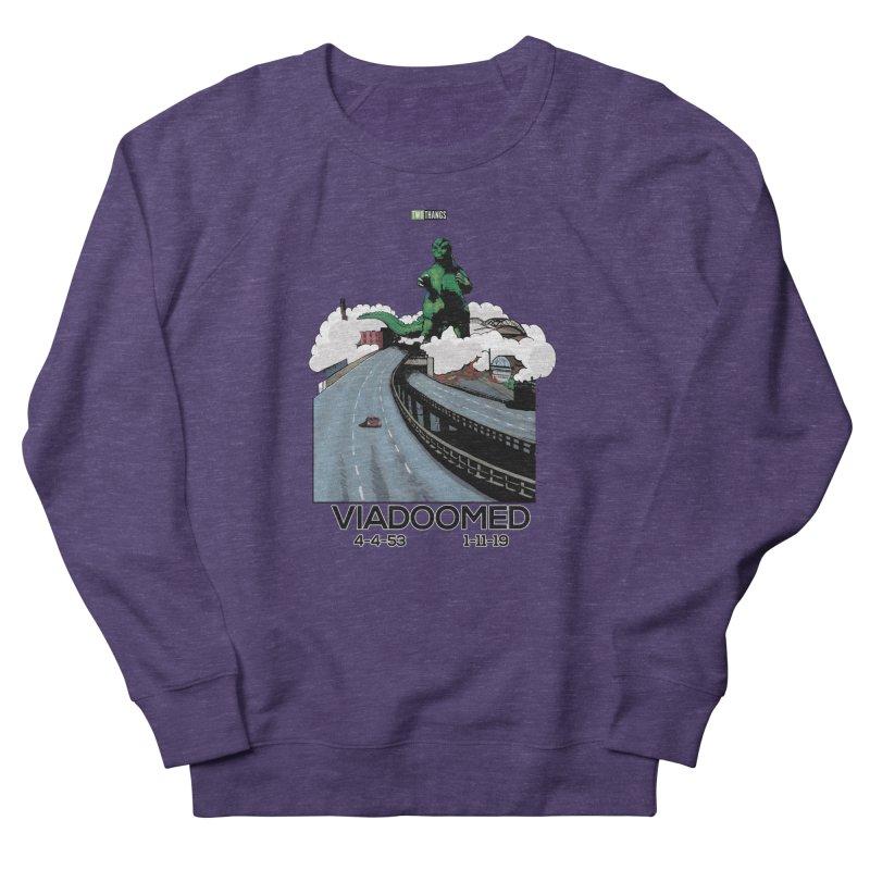 Seattle Viaduct (RIP) / Godzilla Women's French Terry Sweatshirt by Two Thangs Artist Shop