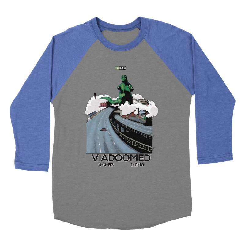 Seattle Viaduct (RIP) / Godzilla Men's Baseball Triblend Longsleeve T-Shirt by Two Thangs Artist Shop