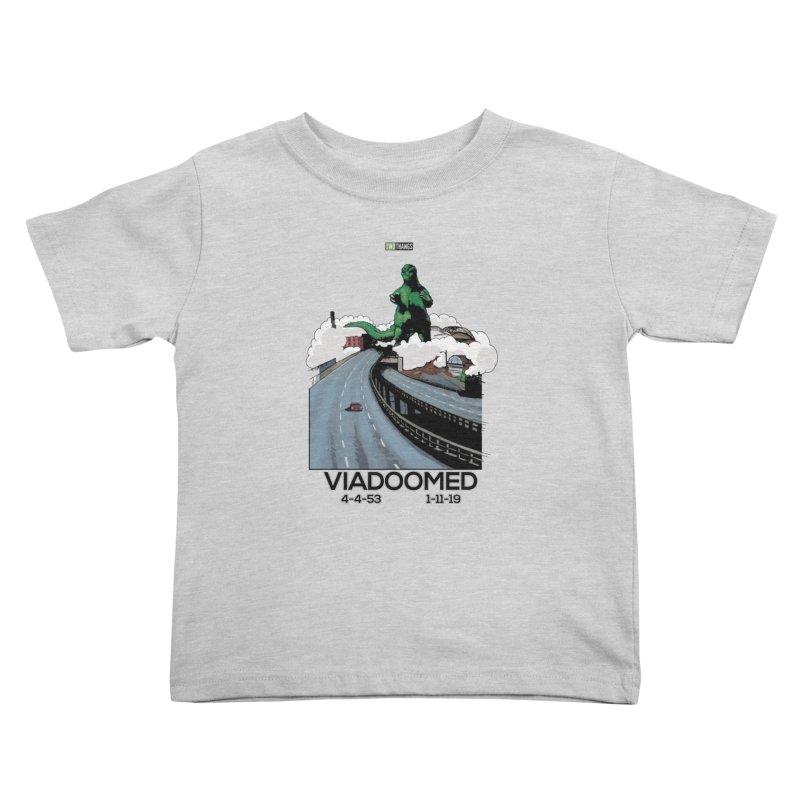 Seattle Viaduct (RIP) / Godzilla Kids Toddler T-Shirt by Two Thangs Artist Shop