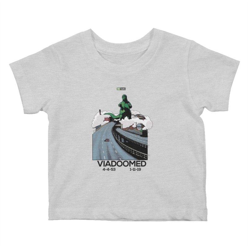 Seattle Viaduct (RIP) / Godzilla Kids Baby T-Shirt by Two Thangs Artist Shop