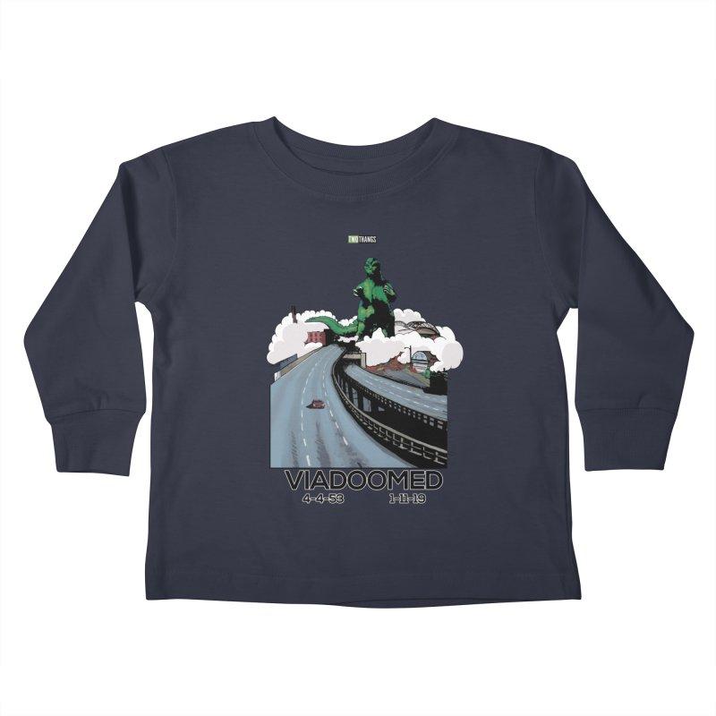 Seattle Viaduct (RIP) / Godzilla Kids Toddler Longsleeve T-Shirt by Two Thangs Artist Shop